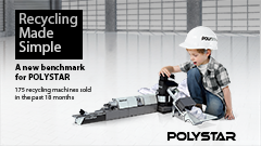 A new benchmark for POLYSTAR – 175 recycling machines sold in the past 18 months
